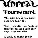 2000 – <em>Unreal Tournament</em> True Type Font