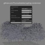 2018-04-06 – Blender Add-On: Sapling Randomizer